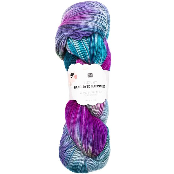 Rico Design Luxury Hand-Dyed Happiness dk 100g, 390mLL, petrol