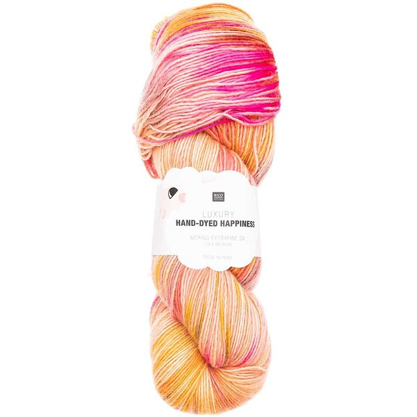 Rico Design Luxury Hand-Dyed Happiness dk 100g, 390mLL, lachs-gelb