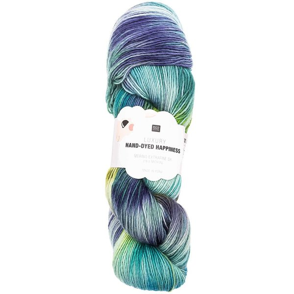Rico Design Luxury Hand-Dyed Happiness dk 100g, 390mLL, grün